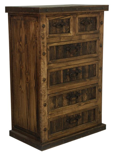 rustic 6 drawer chest rustic chest w iron wood 6 drawer