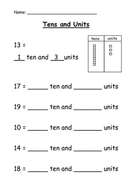 tens  units partition teaching ideas