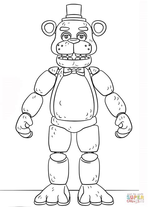 Coloring Fnaf by Fnaf Golden Freddy Coloring Page Free Printable