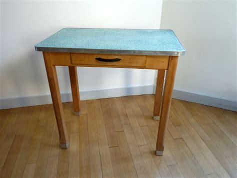 table de cuisine bois  zinc idee cuisine