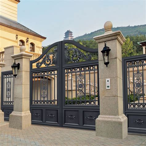 villa fence designs splendid design black villa outside gate flowers carving security aluminum door in doors from