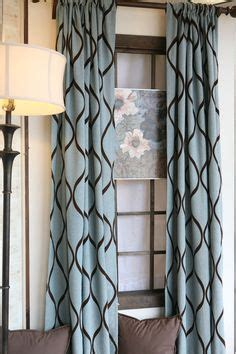 curtain panels in turquoise and brown curtain panels