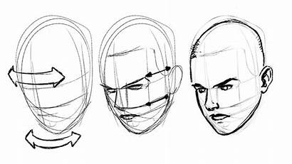 Face Draw Drawing Facial Line Different Head