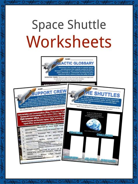 space shuttle facts worksheets nasa space shuttle era