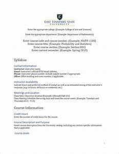 fine course syllabus template gallery example resume With online course syllabus template