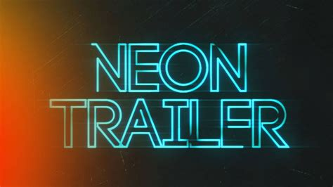 effects template neon trailer title