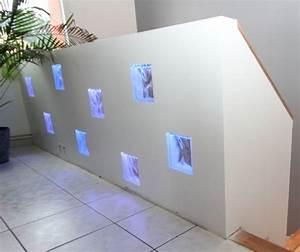 impressionnant pose brique de verre salle de bain 2 With pose brique de verre salle de bain