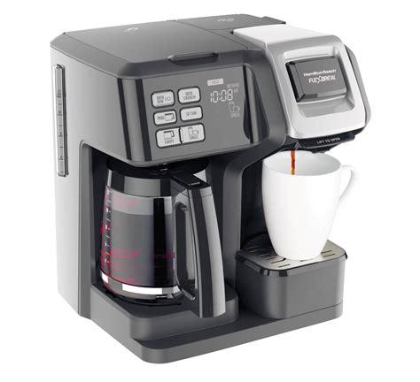 The hamilton beach 49980a single serve coffee maker is versatile. Hamilton Beach Brands Inc. 49976 FlexBrew 2-Way Coffee Maker