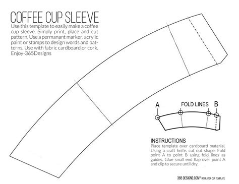 Template For Coffee Cup Sleeve new mccaf 233 single brew coffee with printable cup sleeve