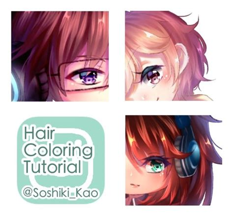 Coloring Hair Anime by Digital Soft Hair Coloring Tutorial Anime Amino