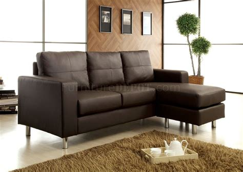 Cm2122dk Avon Sofa & Ottoman Set In Dark Brown Leatherette