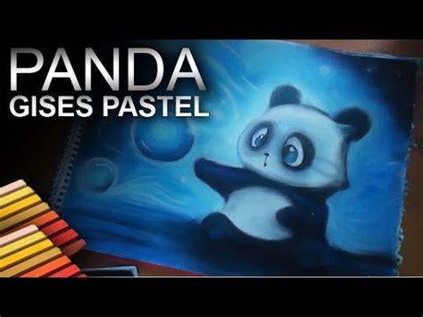 dibujando  osito panda  gises pastel youtube