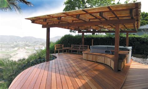 Patios & Decks : Hot Tub Patio Ideas, Luxury Decks And Patios Backyard Deck