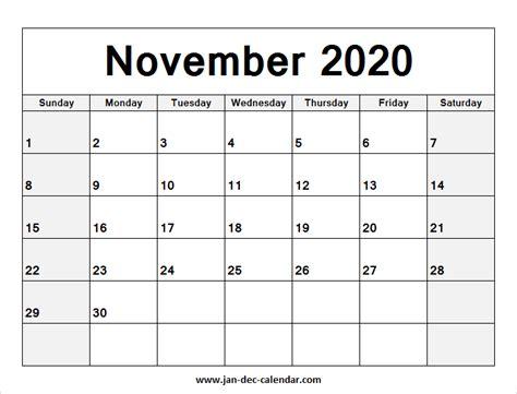 blank calendar november  august calendar january