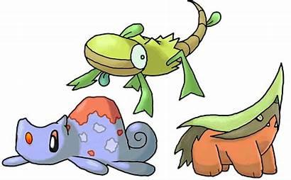 Starters Fakemon Deviantart Smiley Pokemon Fake Attacks