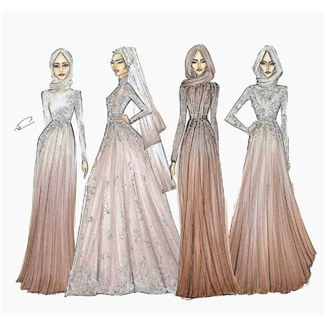 fashion illustration hijab gown pinterest fashion