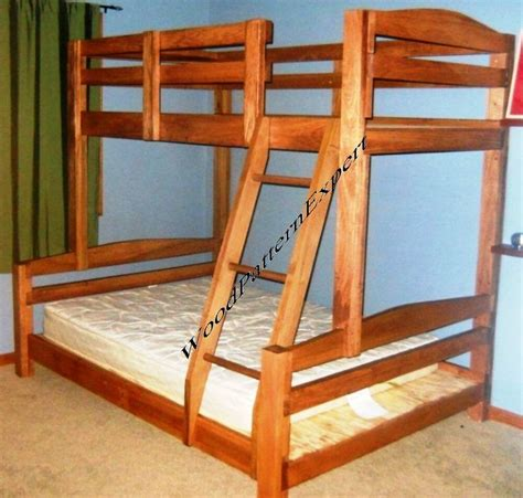 bunk bed paper patterns build king  queen  full