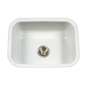 houzer porcela series undermount porcelain enamel steel 23