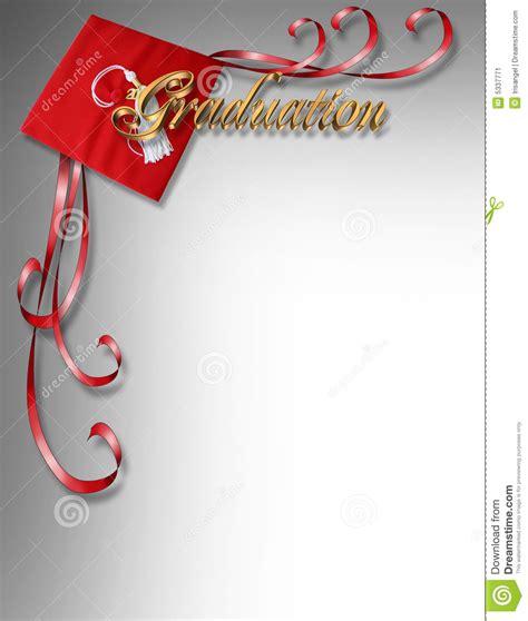 graduation card invitation  corner design stock image