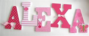 baby girl custom wooden letters pink butterfly decor With baby girl wall letters