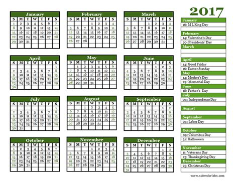 yearly calendar landscape   printable templates