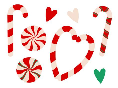 Download icons in all formats or edit them for your. Candy Cane Heart Illustrations, Royalty-Free Vector ...
