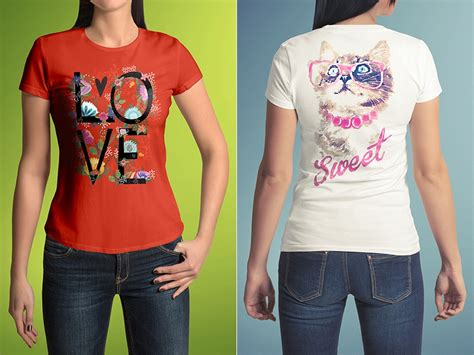 Use it to present your apparel design in a photorealistic way. 55 INFO T SHIRT MOCKUP WITH FEMALE MODEL FREE CDR ...