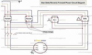 Star Delta Reverse And Forward Motor Control Circuit In
