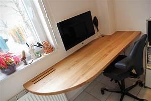 Schreibtisch Massivholz Eiche : schreibtischplatte massivholz ~ Whattoseeinmadrid.com Haus und Dekorationen