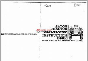 Mitsubishi   Satoh Tractor Beaver S370 Instruction Book