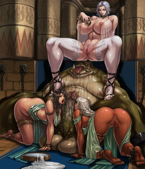 Rule 34 1monster 3girls Alcohol All Fours Anklet Anus