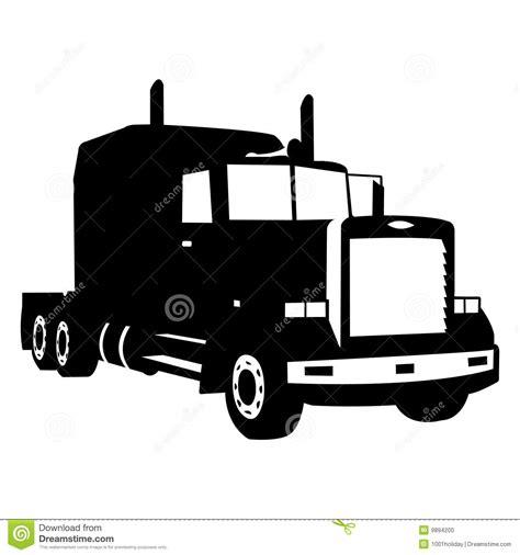 Semi Truck Clipart Semi Truck Silhouette Clipart