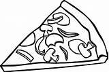 Pizza Coloring Slice Printable Pepperoni Sheets Colorir Pieczarkami Kolorowanka Hamburger Clipart Coloriage Bread Cheese Desenhos U2013 Birthday Wecoloringpage Ebcs Frites sketch template