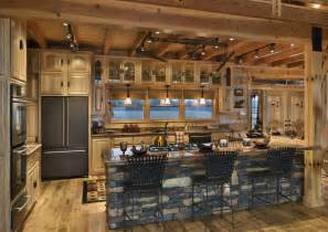 Log Cabin Kitchen Island Ideas by Rustic Kitchen Island 6648