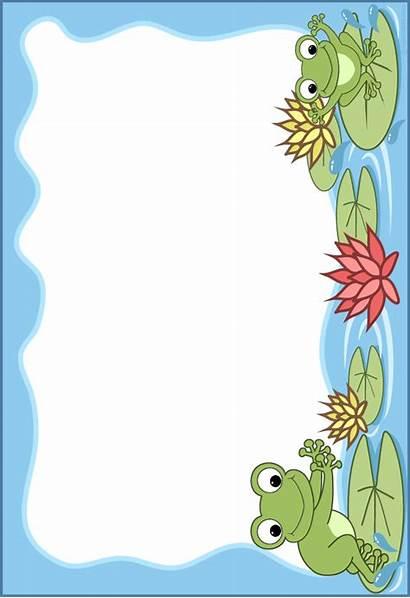 Frame Clipart Frog Scrapbook Frames Borders Frogs