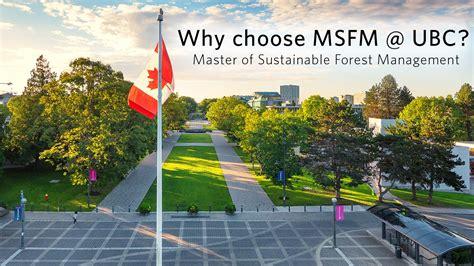 master  sustainable forest management   university