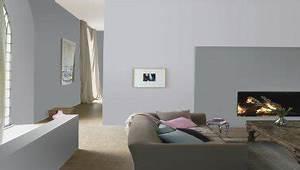 salon murs couleur taupe et pan de mur gris clair With conseil pour peindre un mur 13 chambre taupe et couleur lin idees deco ambiance zen