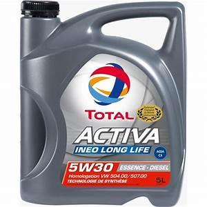Quantité Huile Moteur : huile moteur total activa ineo long life essence diesel 5w 30 5l feu vert ~ Gottalentnigeria.com Avis de Voitures
