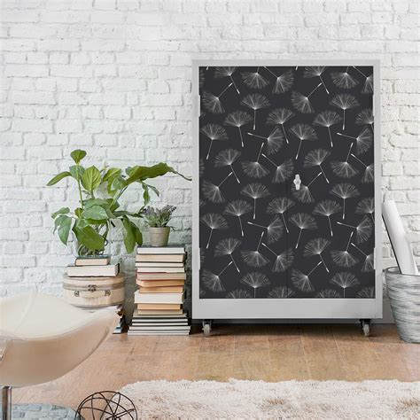 Klebefolie Möbel Muster by M 246 Belfolie Pusteblumen Muster Wei 223 Dunkelgrau
