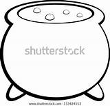 Cauldron Witch Vector Witches Template Shutterstock Hand Paper Coloring Pages Towels Roll Lightbox Save Royalty sketch template