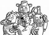 Fnaf Coloring Pages Naf Characters Drawing Freddy Crew Deviantart Five Nights Colouring Sketches Coloringbpr Printable Da  sketch template