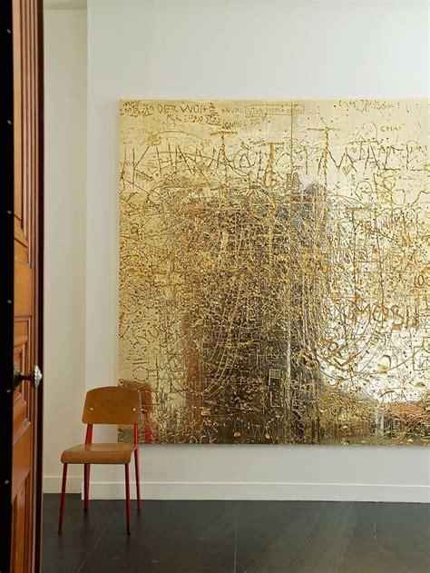 walls november  contemporary abstract art gold leaf art abstract