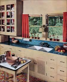 1930 Vintage Kitchen Linoleum Counter
