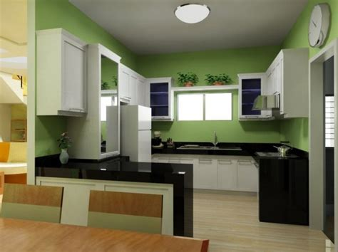green black and white kitchen small kitchen design white and green modern home design 6932