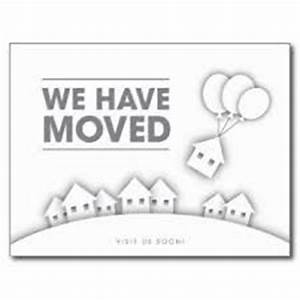 moving card change of address and cards on pinterest With we have moved cards templates