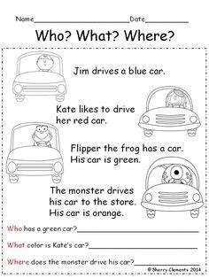 short reading comprehension passages images