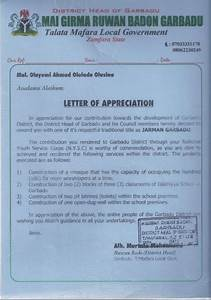 How To Title A Letter Of Recommendation A Corper Receives Chieftaincy Title In Zamfara Nysc