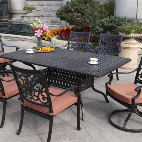 Cheap 6 Person Patio Set by Darlee St 6 Person Cast Aluminum Patio Dining Set
