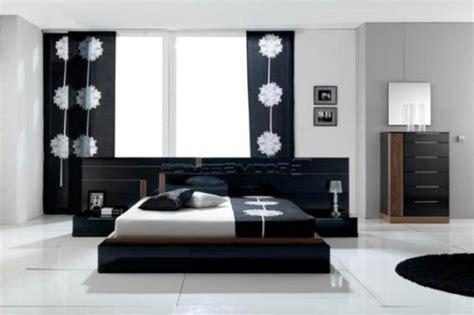 chambre moderne noir et blanc la décoration noir et blanc vous surprenda avec style et