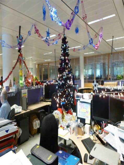 christmas decoration in office bay www indiepedia org